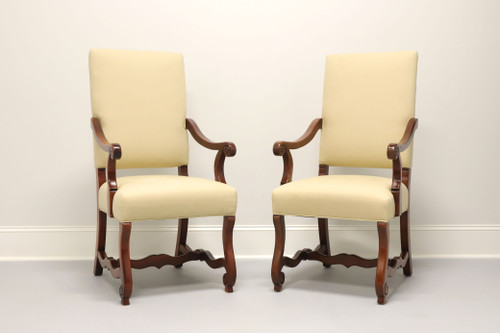 SOLD - CHARLES STEWART French Country Dining Captain's Armchairs - Pair