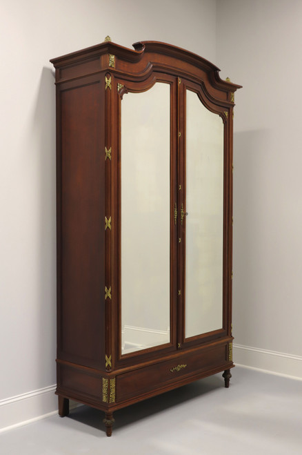Antique 19th Century Mahogany French Country Louis XVI Armoire / Linen Press