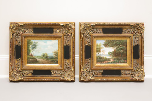 20th Century Oil on Canvas Paintings of Landscapes - Pair