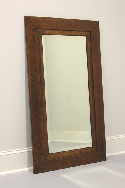 Antique Circa 1900 Quartersawn Tiger Oak Mirror