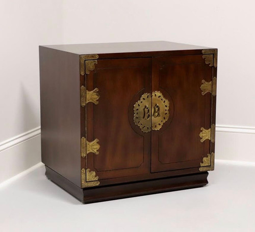 HENREDON Asian Japanese Tansu Campaign Style Nightstand / Bedside Chest