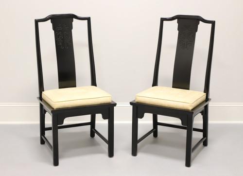 CENTURY Chin Hua by Raymond Sobota Asian Chinoiserie Dining Side Chairs - Pair B
