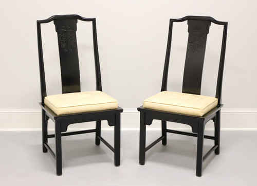 CENTURY Chin Hua by Raymond Sobota Asian Chinoiserie Dining Side Chairs - Pair A