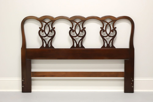 DREXEL Solid Mahogany Chippendale Style Queen Headboard