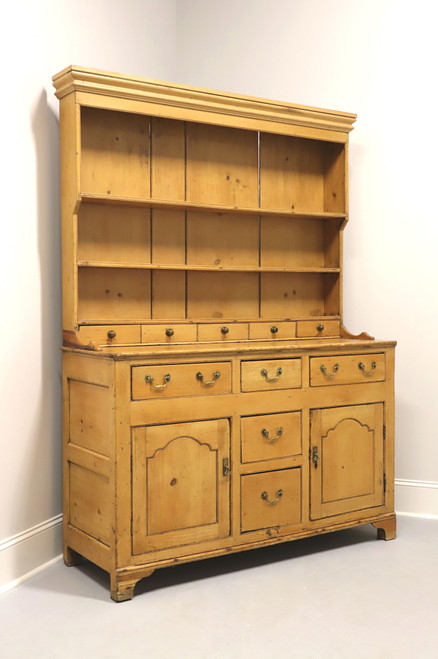 Antique Pine Chippendale Style Stepback Hutch