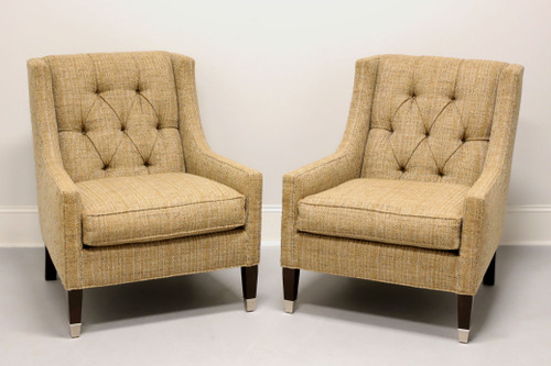 "VANGUARD ""Flynn"" by Michael Weiss Tufted Club Chairs - Pair"