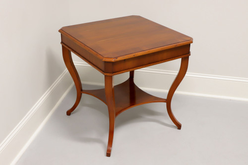 ALFONSO MARINA Regency Legrand Yew Wood Square Lamp Table