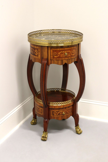 MAITLAND SMITH Round Regency Style Accent Table with Paw Feet