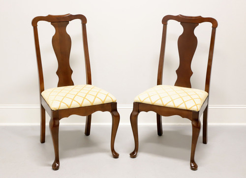 PENNSYLVANIA HOUSE Solid Cherry Queen Anne Dining Side Chairs -  Pair C