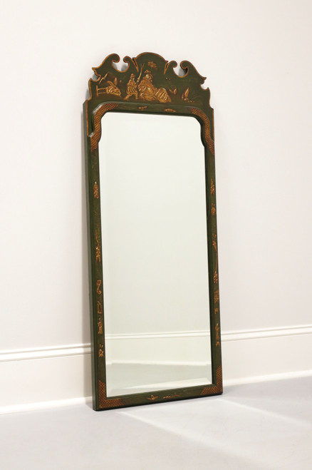 FRIEDMAN BROTHERS Green Painted Asian Chinoiserie Mirror B