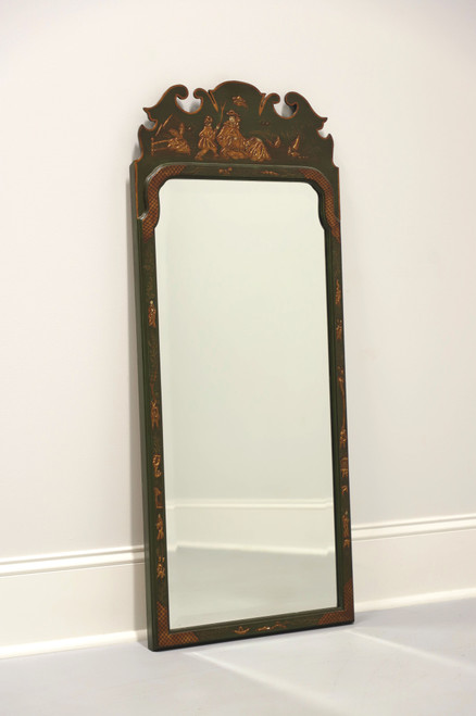 FRIEDMAN BROTHERS Green Painted Asian Chinoiserie Mirror A