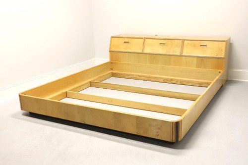 HENREDON Scene Two Art Deco Olive Wood King Storage Bed