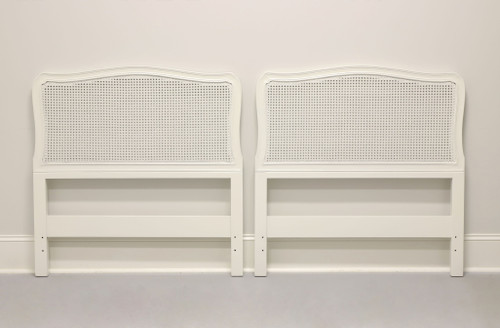 HENREDON French Provincial Painted Cane Twin Headboards - Pair