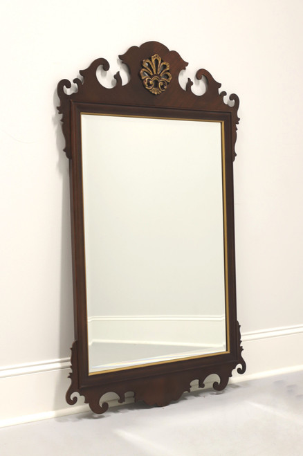 DREXEL 18th Century Classics Ornate Carved Mahogany Beveled Mirror