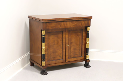BAKER Neoclassical Mahogany Nightstand with Paw Feet A