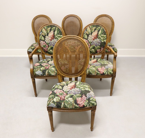 HENREDON French Louis XVI Walnut Caned Dining Chairs - Set of 6