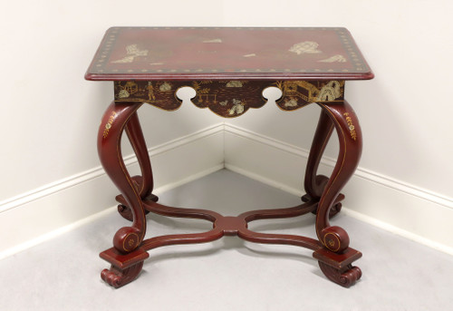 MAITLAND SMITH Red Chinoiserie Accent Table