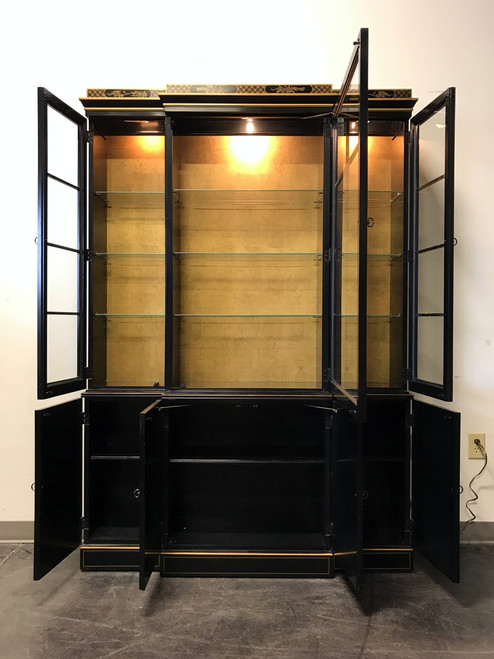 ... SOLD OUT   DREXEL HERITAGE Et Cetera Asian Chinoiserie Breakfront China  Cabinet ...