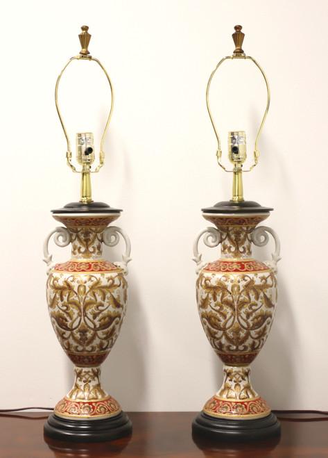 Oriental Accents Asian Decorative Table Lamps - Pair