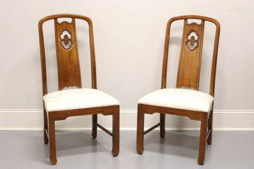 THOMASVILLE Mystique Asian Chinoiserie Dining Side Chairs - Pair B