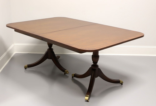 KINDEL Banded Mahogany Double Pedestal Dining Banquet Table
