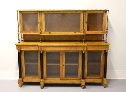 Vintage French Empire Style Walnut Display Cabinet / Sideboard