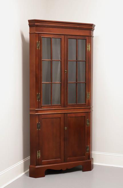 CRAFTIQUE Solid Mahogany Chippendale Corner Cupboard