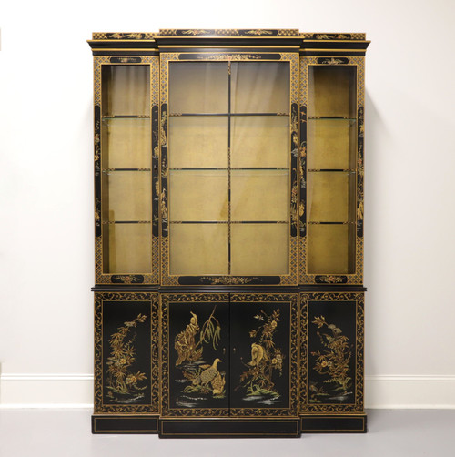 DREXEL HERITAGE Chinoiserie Breakfront China Cabinet