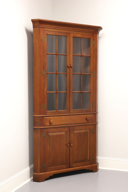 BENBOW Colonial Solid Walnut Corner Cupboard