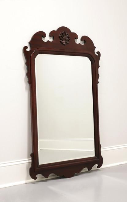 Large Vintage Chippendale Style Mahogany Beveled Mirror