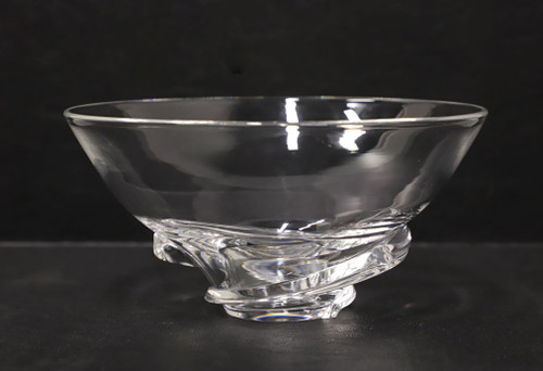 "Steuben 7"" Spiral Clear Crystal Bowl 8060"