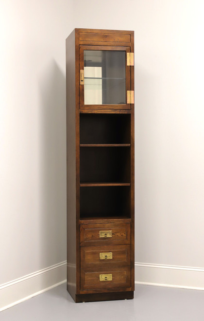 HENREDON Scene One Campaign Style Slender Curio Cabinet