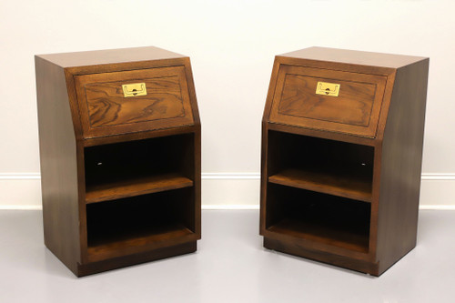 HENREDON Scene One Campaign Style Nightstands - Pair