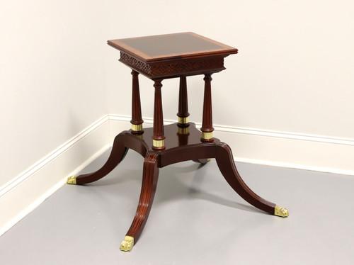 CRAFTIQUE Banded Mahogany Regency Dining Table Birdcage Pedestal Base A