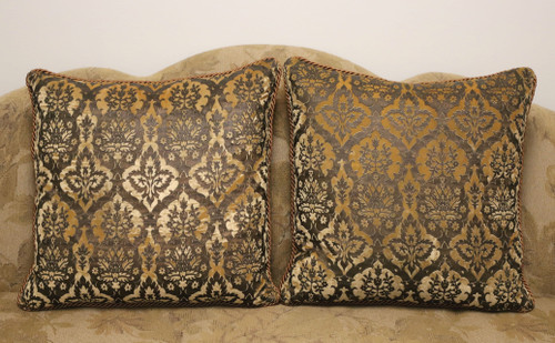 MARGE CARSON Crushed Velvet Pillows - Pair
