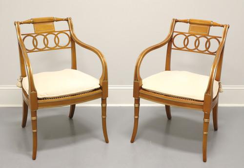BAKER Historic Charleston Governor Alston Regency Dining Armchairs - Pair