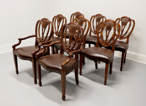 THEODORE ALEXANDER Mahogany Hepplewhite Dining Chairs - Set of 8