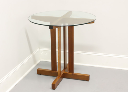 Arts & Crafts Style Glass Top Accent Table