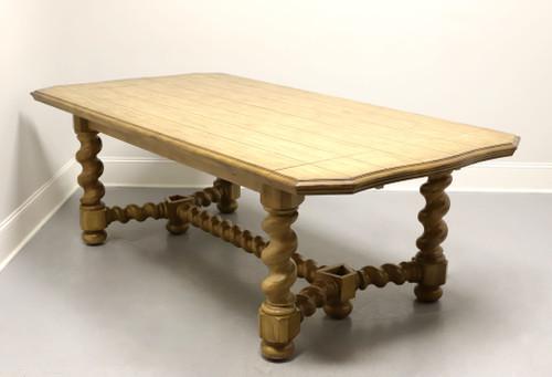 BERNHARDT Rustic Italian Style Trestle Dining Table