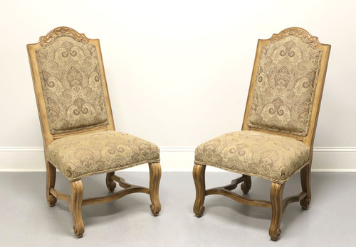 BERNHARDT Rustic Italian Style Dining Side Chairs - Pair C