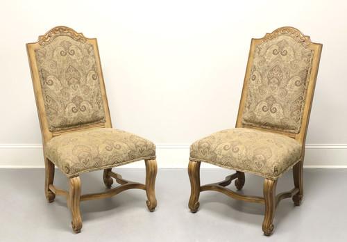 BERNHARDT Rustic Italian Style Dining Side Chairs - Pair B