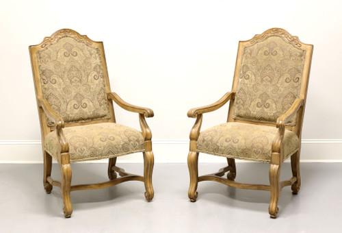 BERNHARDT Rustic Italian Style Dining Captain's Armchairs - Pair