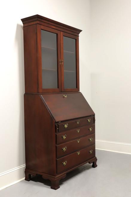 CRAFTIQUE Solid Mahogany Chippendale Secretary w/ Bookcase