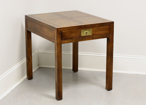 HENREDON Scene One Campaign Style End Side Table