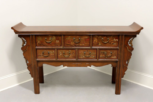Asian Chinoiserie Carved Altar Console Credenza Sideboard