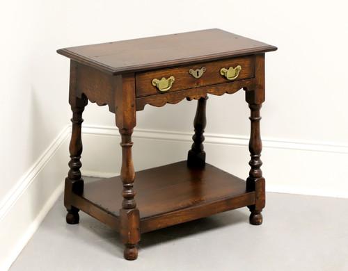 Antique Tiger Oak Colonial Accent Table