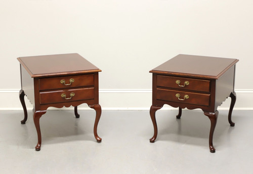 HICKORY American Masterpiece Mahogany Queen Anne End Tables - Pair