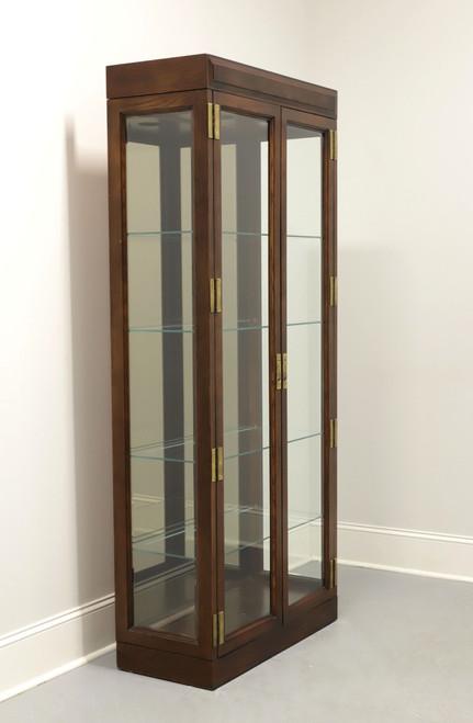 Campaign Style Curio Cabinet by Jasper Cabinet Company - A