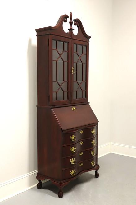 SOLD - Vintage Mahogany Chippendale Secretary Desk by Jasper Cabinet Co