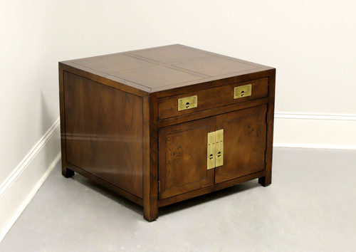 HENREDON Scene One Campaign Style Cabinet End / Side Table